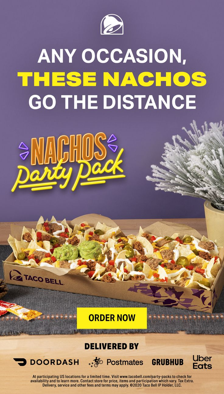 Taco Bell Popular Pays In 2021 Party Packs Nacho Party Taco Bell