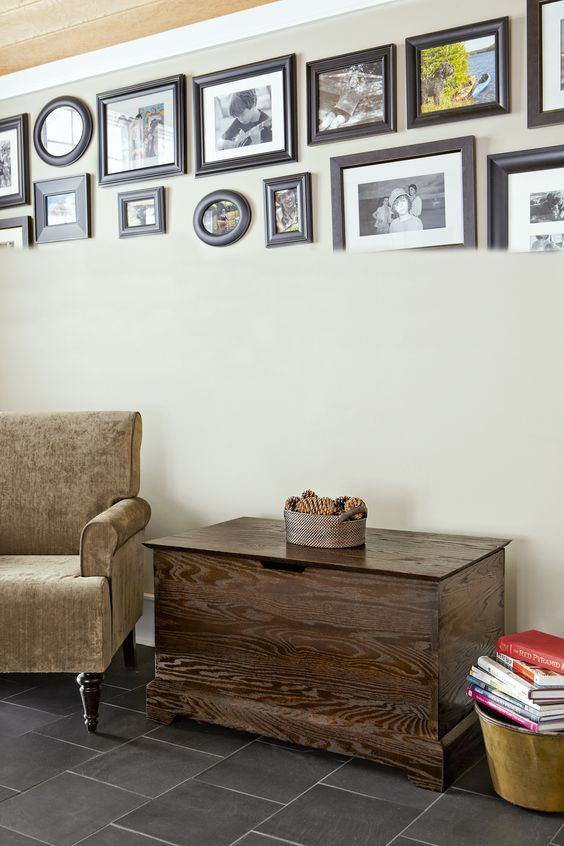 Join oak lumber with wood dowels to create a modern take on Shaker-style storage