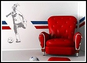 Soccer Footwork Wall stickup - Your wall color shows through, so goes with all colors.  Girls sports bedroom decorating ideas