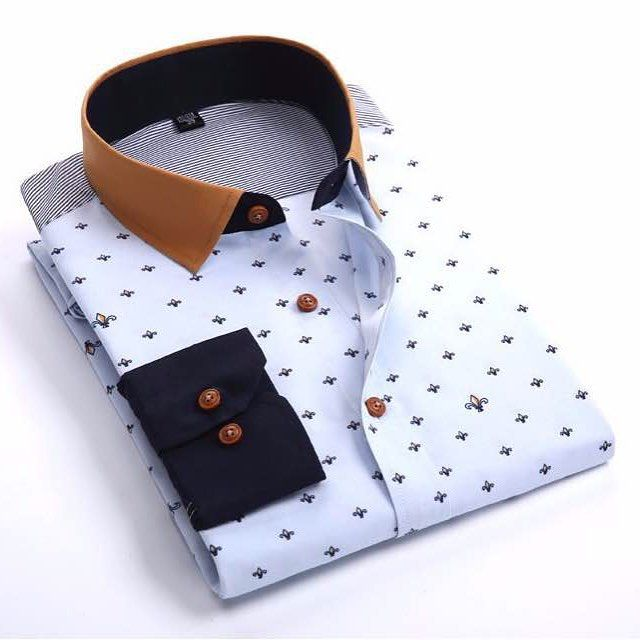 uk style dot dress shirt 2 top