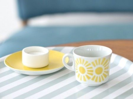retro coffee cup & saucer by Arabia Finland. nama.fi