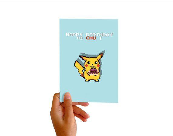 Carte Anniversaire Pikachu Amour Pokemon Gateau