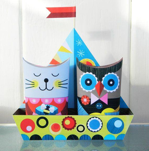 love the owl & cat