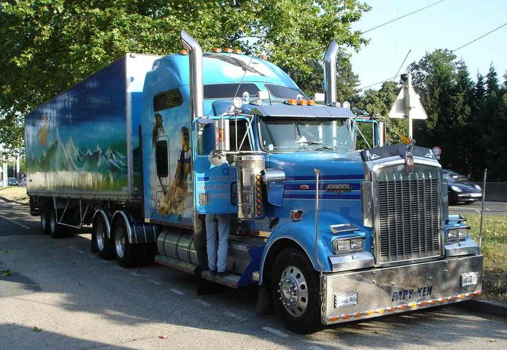 Camion americain kenworth am ricain truck pinterest for Camion americain interieur