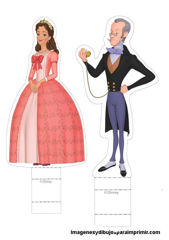 personajes princesa sofia para recortar