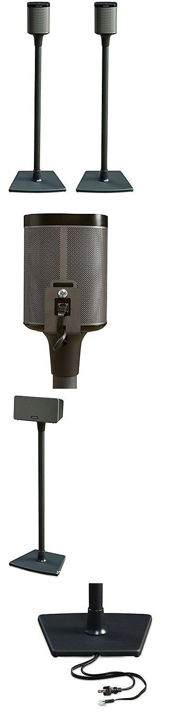 Speaker Mounts and Stands: Sanus Wss2 Speaker Stands For Sonos Play 1 And Play 3 Speakers (Black Pair) BUY IT NOW ONLY: $108.04