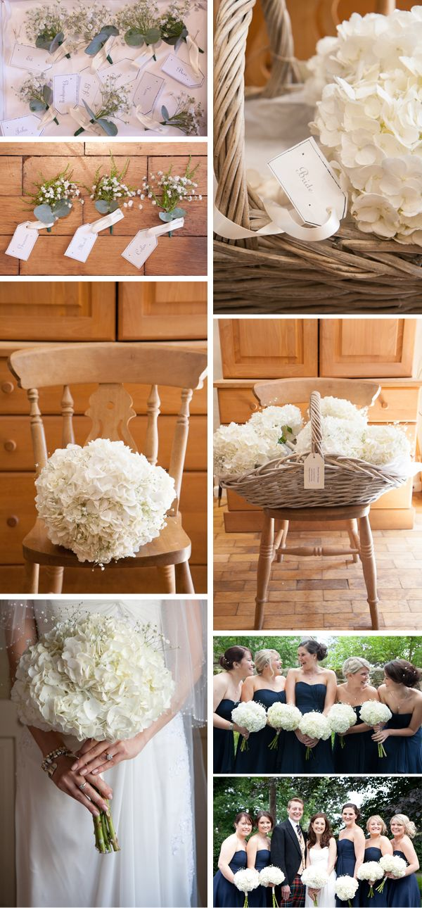 PERFECT PERFECT PERFECT! (Besides the ugly tux) #hydrangeas #navyblue #wedding