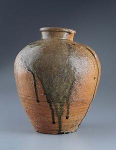 Storage Jar, Japan Momoyama period (1573–1615) c. 1600 Stoneware with wood-ash glaze (Shigaraki ware) 14 x 11 5/8 in. (35.6 x 29.5 cm)