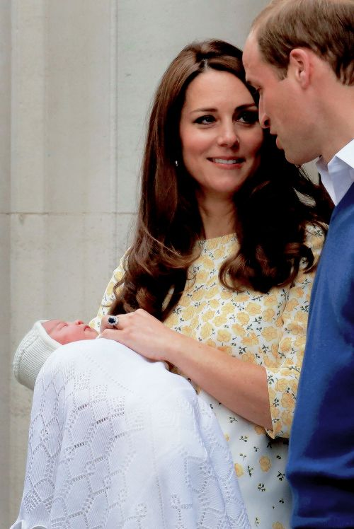 William, Kate and the new baby Princess of Cambridge!!!! May 2, 2015