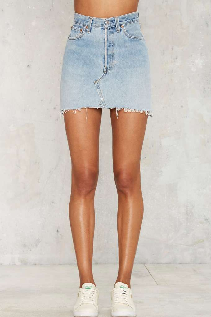 After Party Vintage Drifter Levi's Denim Skirt - Clothes | After Party | Skirts | Denim | All | Skirts