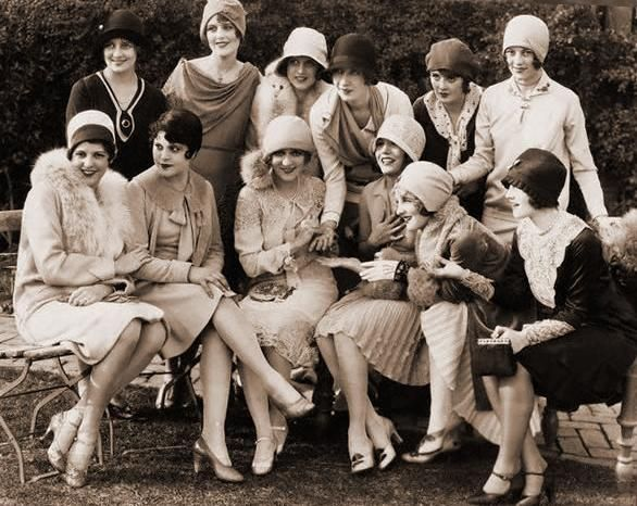 Mary Pickford (front center) is surrounded by fellow Warner Brothers' actresses during