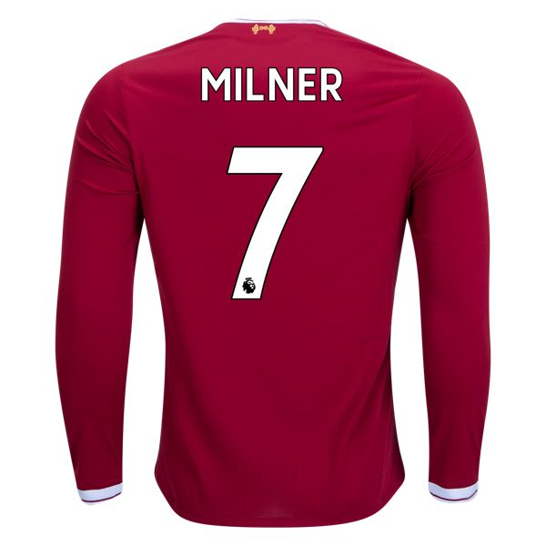 New Balance James Milner Liverpool Long Sleeve Home Jersey 17/18