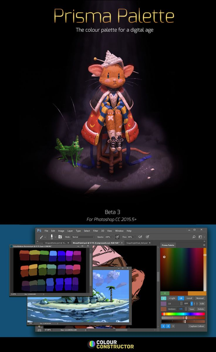 For Photoshop CC 2015.5 +. TRAILER. BETA 4 OUT NOW!!! From the maker of Colour Constructor. A revolutionary new idea in artist's tools; a painter's palette based on physics, that generates different palettes for lit and shadowed areas. Prisma Palette generates individual gamut masks for any number of light sources; mapping exact local colours to lit colours within the colour space. Feature Preview video. Features: The most advanced gamut map generator on the market, Generate mathemat...