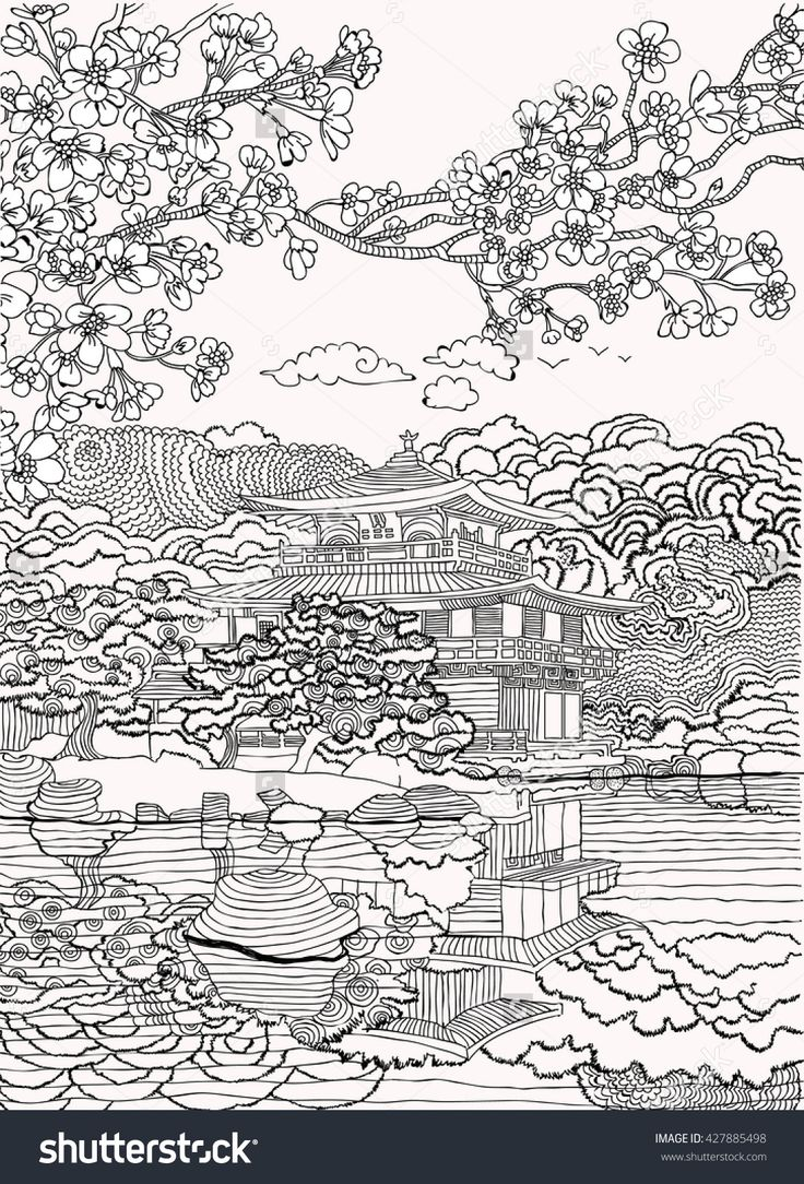 Free coloring pages karate - Japan Coloring Pages Shutterstock 427885498