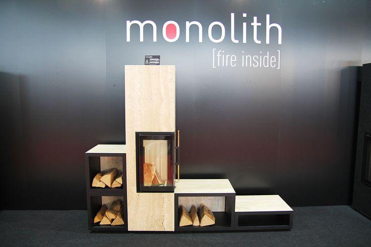 Geometric design for Monolith stove. More news on www.MaterialiCasa.com