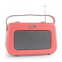 Rádio Akai APR 220, AUX, Vintage Retro, růžové