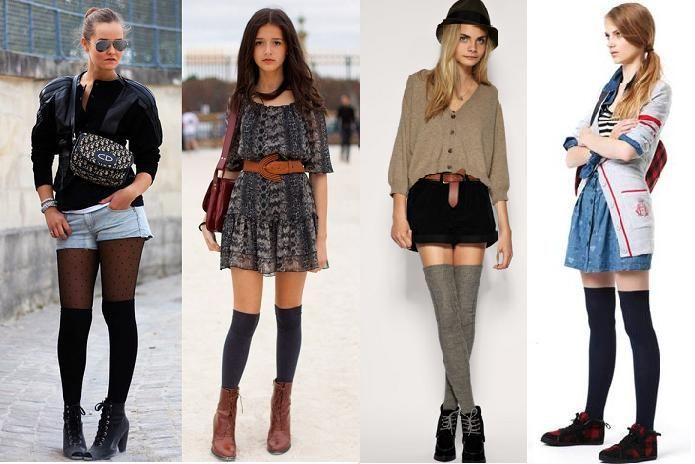 Un must de otoño-invierno: las calzas o calcetines largos | No Solo Moda