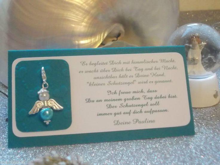 Platzkarte kreativ Engel Gastgeschenk Taufe Hochzeit Kommunion Konfirmation