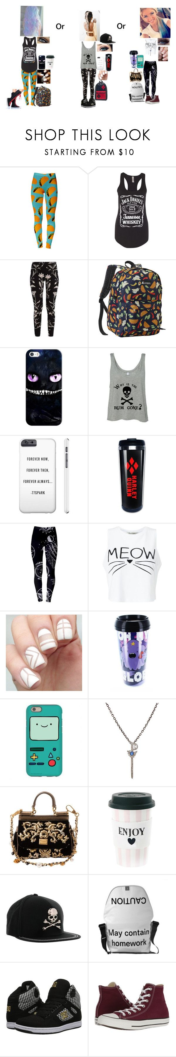 """For My Story On Wattpad"" by rhiannabliss on Polyvore featuring Everest, Casetify, Miss Selfridge, Feathered Soul, Dolce&Gabbana, Miss Étoile, Philipp Plein, DC Shoes and Converse"