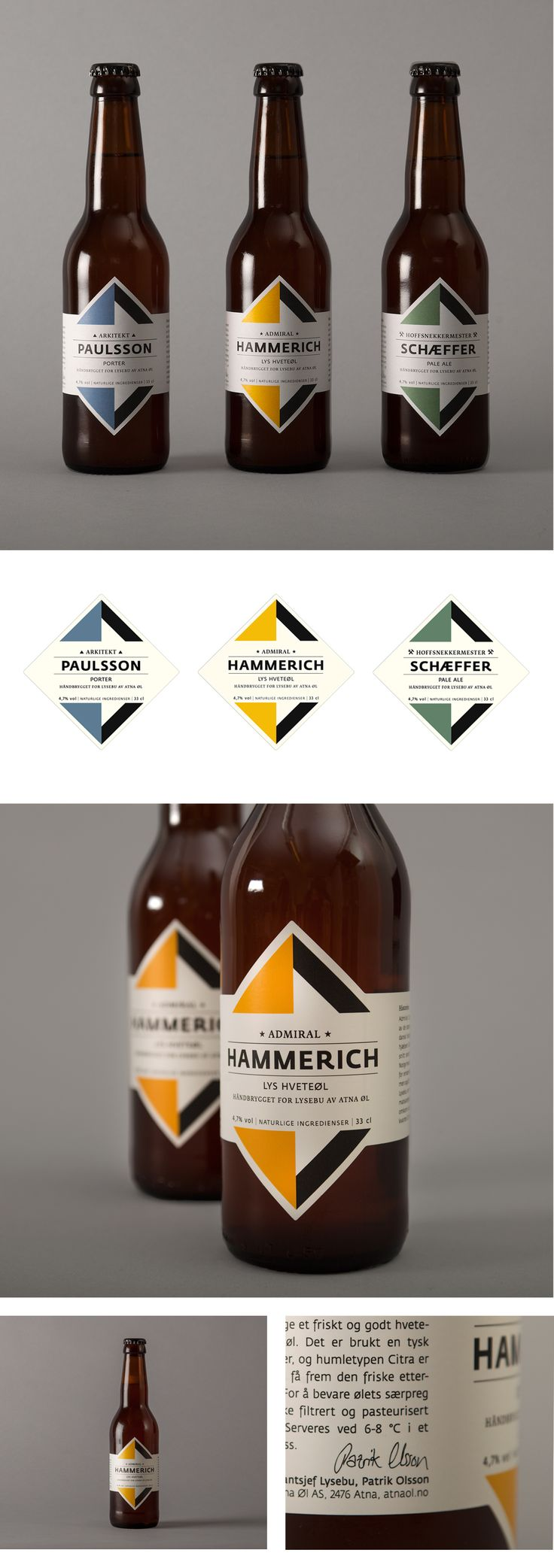 Lysebu Beer Packaging on Behance