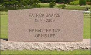 Patrick Swayze Memorial.  Burial: Cremated, Ashes scattered over his New Mexico ranch.