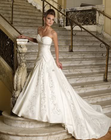 Maggie Sottero wedding gown. LOVE this look, gown and hair.....add Austrian Crystals and other jewels and perfect it will be