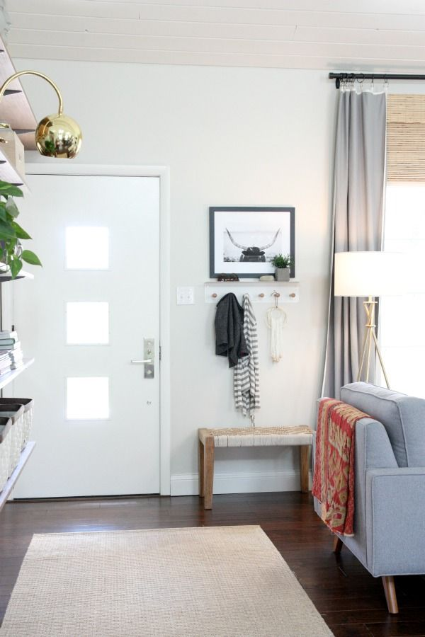 Tips on carving out a front entry when you don 39 t really for Entry living room ideas