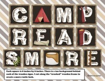Camp Read Smore Decor for Classroom or Library Media Center