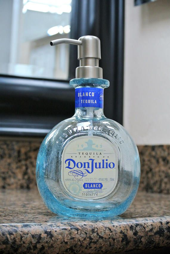 Don Julio tequila glass bathroom soap or kitchen soap ...
