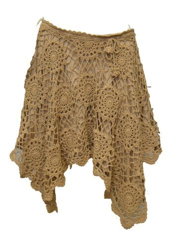 Crochet lacy skirt...love the style and the stitches. Flirty, cute