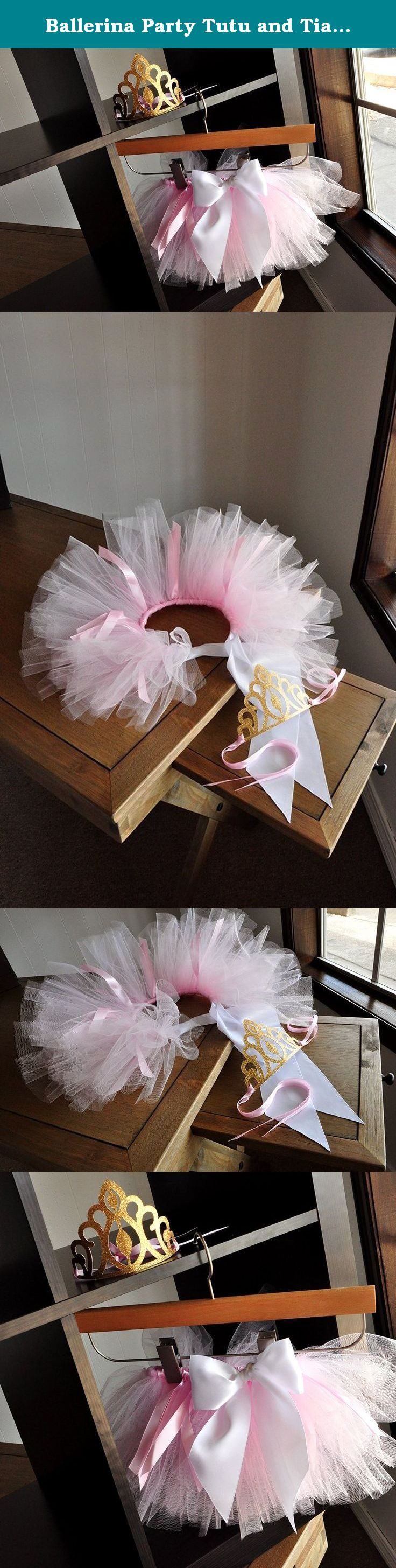 Ballerina Party Tutu and Tiara. Ballerina Party Supplies Gold and Pink. Smash Cake Outfit. Tutu Crown Combo. Our Confetti Momma Ballerina crown and tutu combo is the perfect outfit for your little one's first birthday party or smash cake photoshoot. Your little one will feel like a true ballerina when she adorns herself with this sparkly tiara and pretty tutu. The crown was designed using sturdy gold glitter cardstock and embellished with luxurious baby pink satin ribbon. The tutu is…