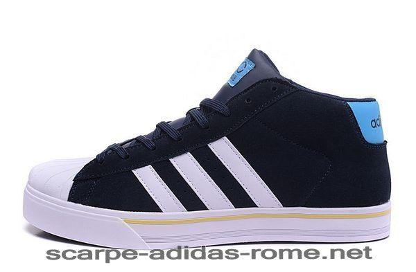 Adidas NEO Uomo High Tops Scarpe Nere Bianche F98982 (Adidas rome) - Adidas NEO Uomo High Tops Scarpe Nere Bianche F98982 (Adidas rome)-31