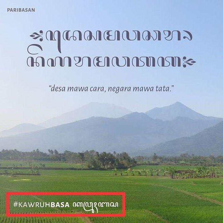 "92 Likes, 1 Comments - Majalah Panjebar Semangat (@majalahps) on Instagram: ""#kawruhbasa #paribasan ""desa mawa cara, negara mawa tata"" Desa punya aturan, negara punya tatanan.…"""