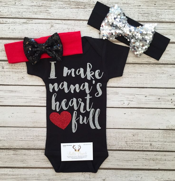 A personal favorite from my Etsy shop https://www.etsy.com/listing/474315196/baby-girl-clothes-shirts-i-make-nanas