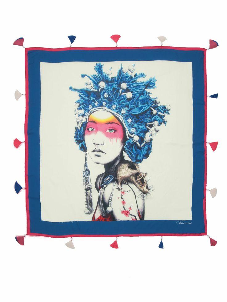 Fornarina foulard feat. Fin Dac  #ss14 #Fornarina #streetart #pop #FinDac #accessories