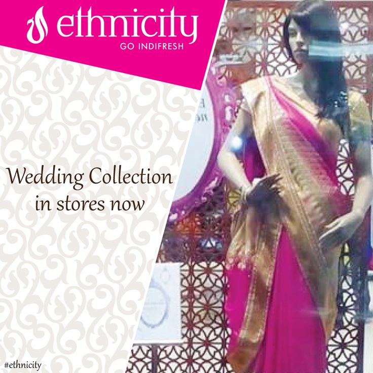 A beautiful saree for a beautiful you. Isn't it? #ethnicity#indifresh#ethnic#ethnicwear#wedding#weddingfestival#occasion#collection#weddingcollection