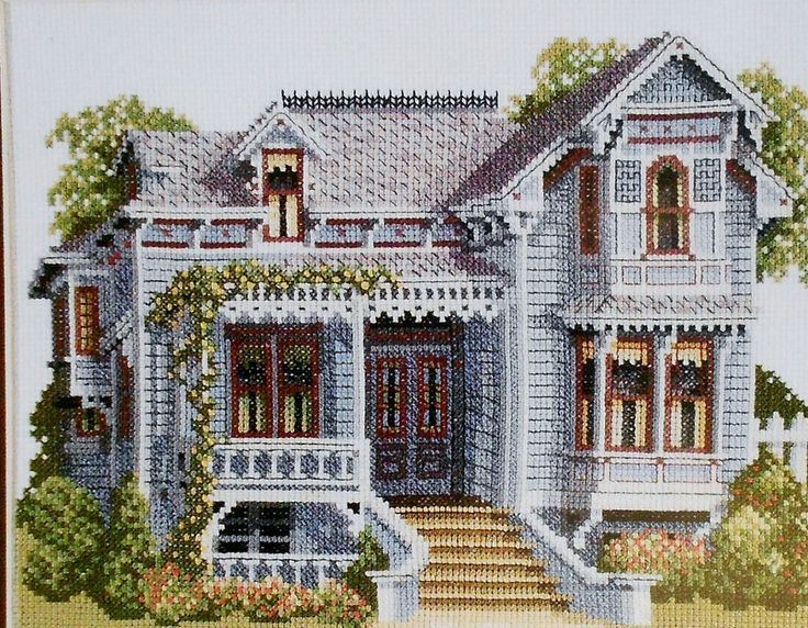 Debbie Patrick SANTA ROSA VICTORIAN House by ThePamperedStitcher