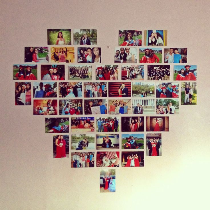 Picture heart collage perfect room decor fashion beauty for Collage mural ideas