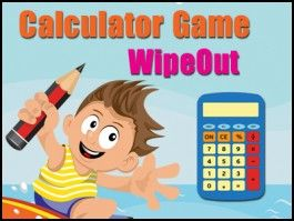 Calculator Game - WipeOut - a Place Value Game