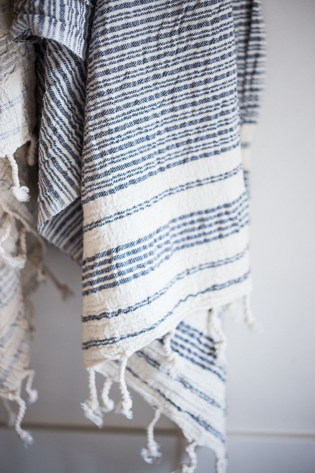 Hand loomed Turkish towels...soft and luxurious, we actually found these in Turkey. These are best quality we've seen, the real deal and for a really good price. Use as a towel or great for traveling, as a beach blanket, a towel, ( super absorbent) or a wrap! Don't let the summer go by without one! Several styles and colors...all soft!!
