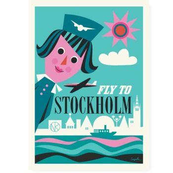 Fly to Stockholm  50 x 70 cm  lyckastore@gmail.com  www.facebook.com/lyckastore