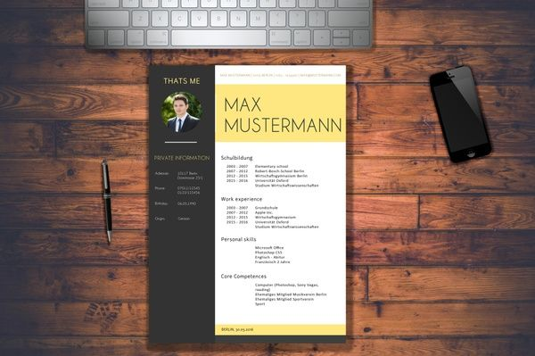 MODERN RESUME 2016 / CV / APPLICATION Photoshop / Lebenslauf / Bewerbungsmappe