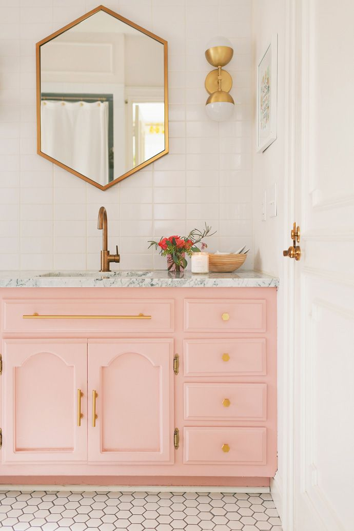 Pink Bathroom Mirrors
