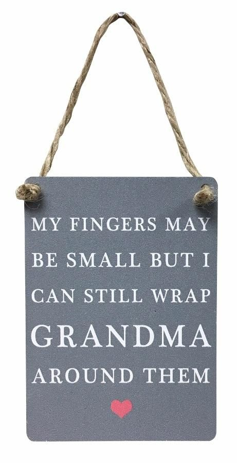 Now available online: My Fingers May Be... Check out our quirky gifts here! http://www.feelingquirky.co.uk/products/my-fingers-may-be-small-but-i-can-still-wrap-grandma-around-them-metal-sign?utm_campaign=social_autopilot&utm_source=pin&utm_medium=pin