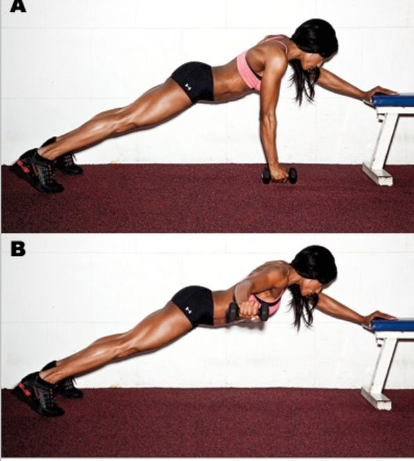Plank T raise for a strong back and core....also includes additional shoulder excercises