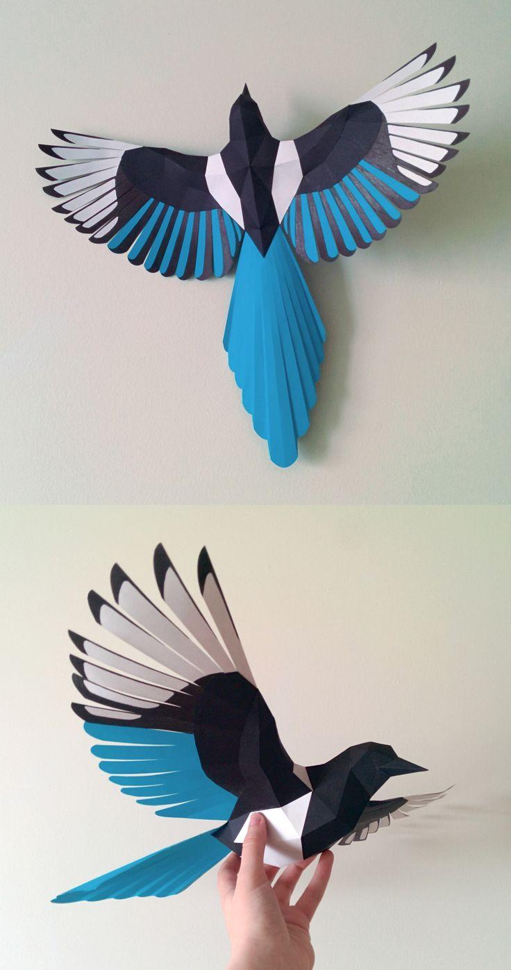 Beautiful bird made of paper