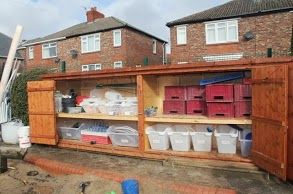 Outdoor storage at Wingate Nursery School - from http://aiswastudytour2012.blogspot.co.uk/
