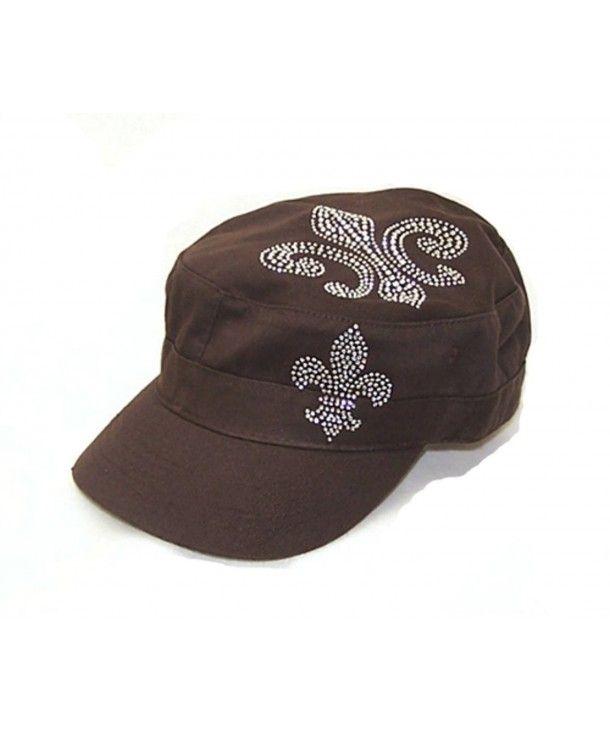 buy online be1ee 2532b Hats   Caps, Men s Hats   Caps, Newsboy Caps, Fleur De Lis Rhinestone