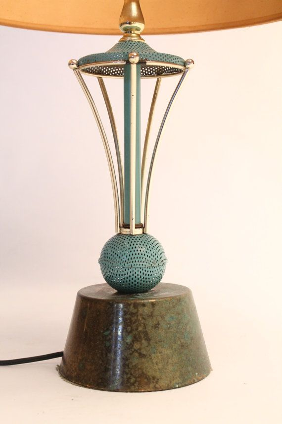ATOMIC TABLE LAMP mid century vintage 1950 era by VINTAGELAMPDEN