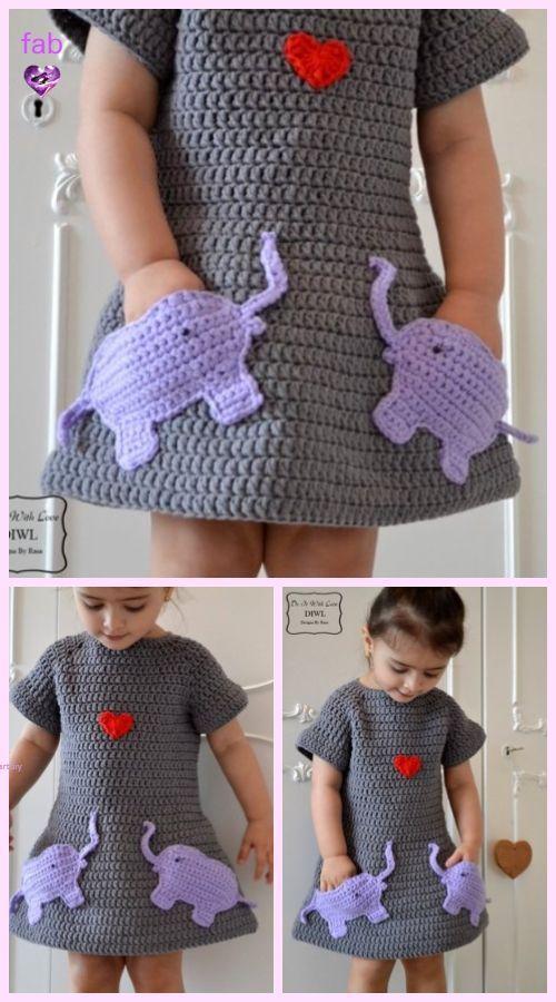DIY häkeln Bienenstock Baby Kleid und Hut – kostenlose Muster   – All about Crochet!
